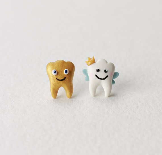a436e66ff85a Tooth Fairy Earrings Gold Teeth stud Earrings Miniature pin earrings Tooth  Jewelry Tooth Accessories love teeth crown Sweet Tooth friends