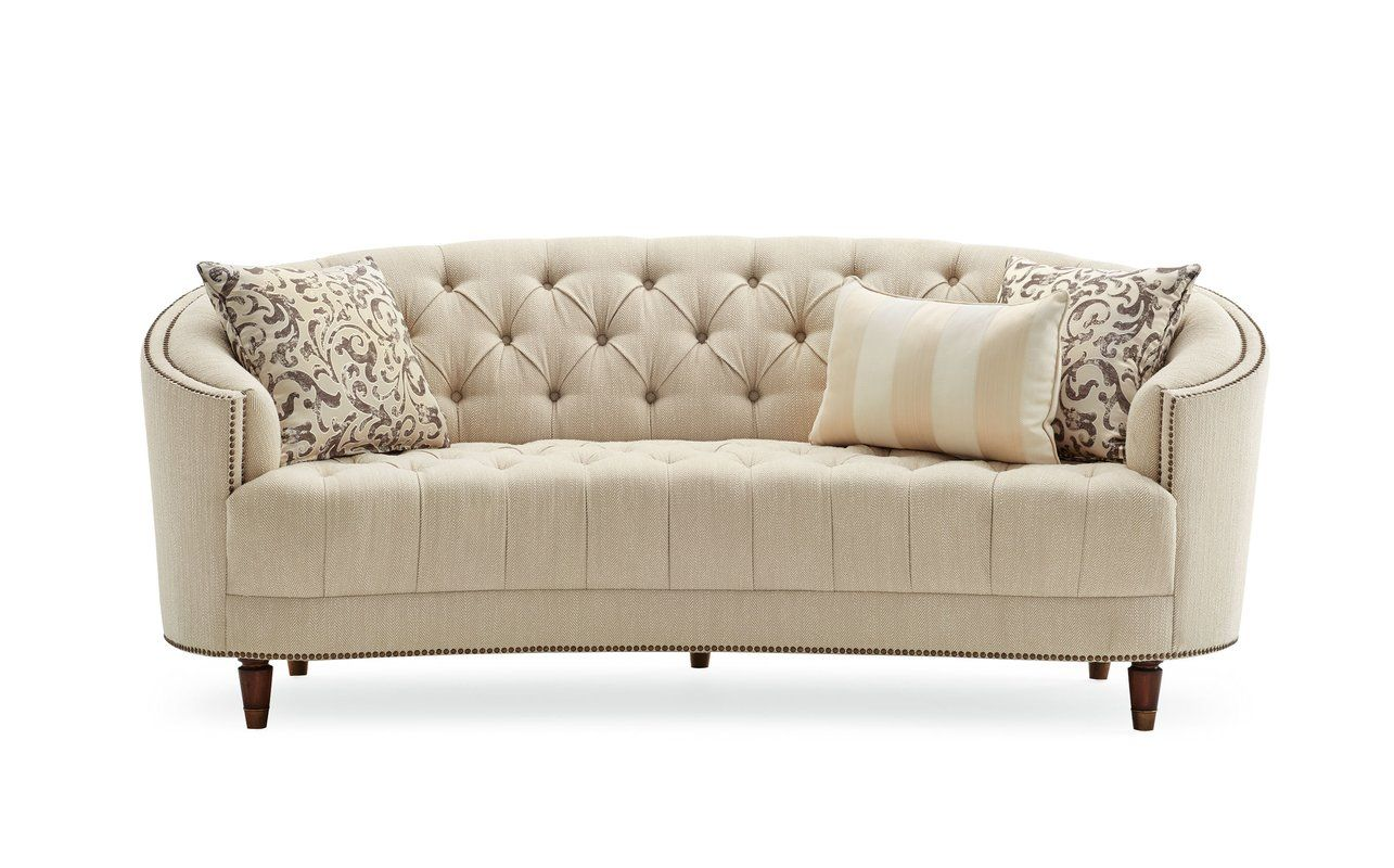Frederic Chenille Curved 90 Square Arm Sofa Curved Sofa Sofa