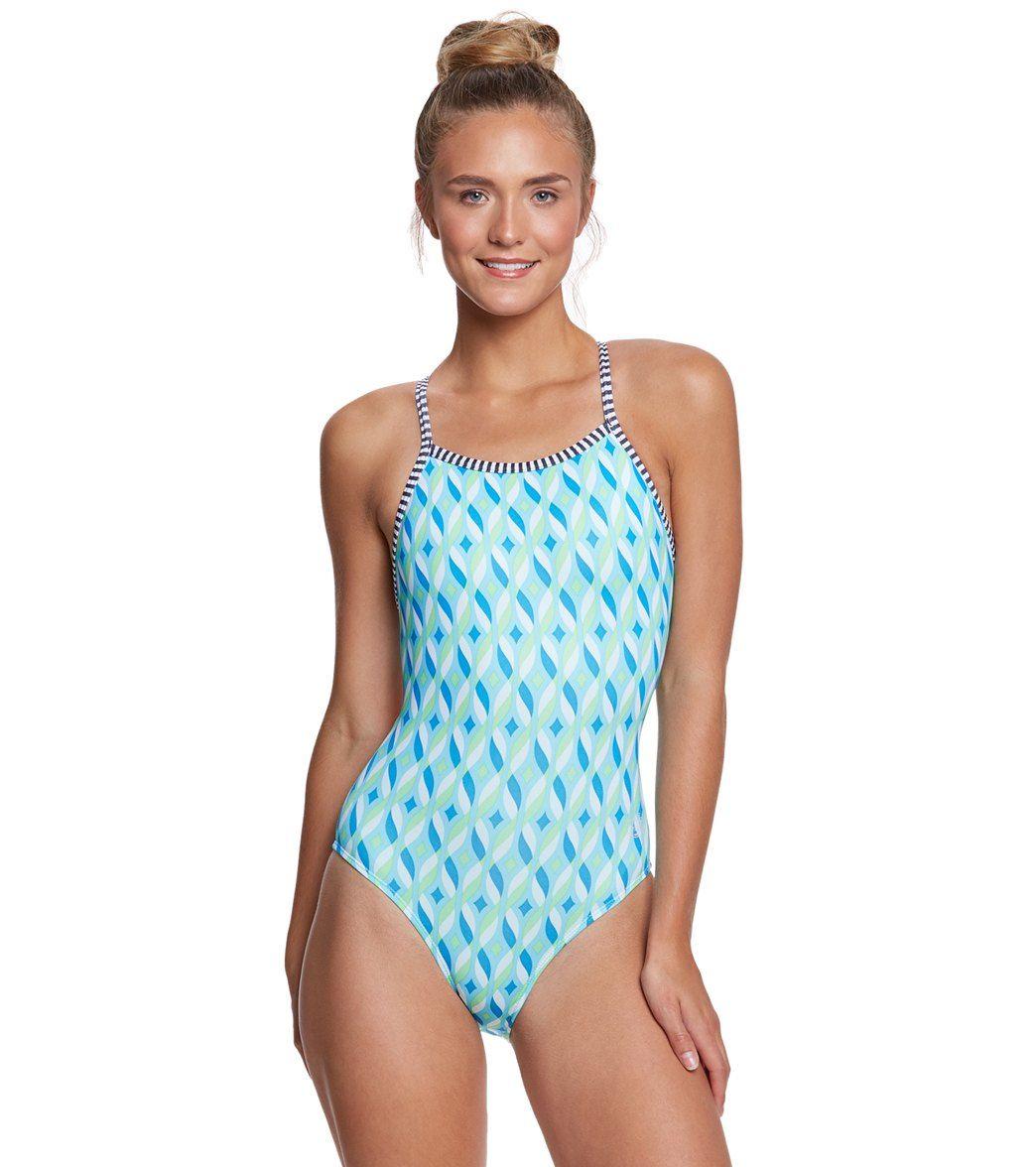 2fc07400e3 Dolfin Uglies Women s Tinsel V-2 Back One Piece Swimsuit at SwimOutlet.com  Swim