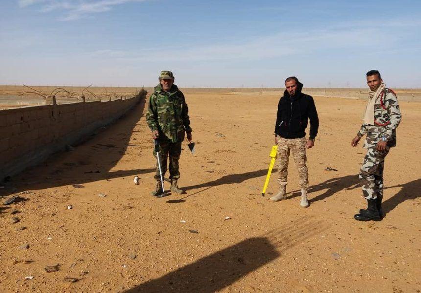 صنف الهندسة العسكرية إزالة الألغام والمخلفات الحربية بالكفرة Libya