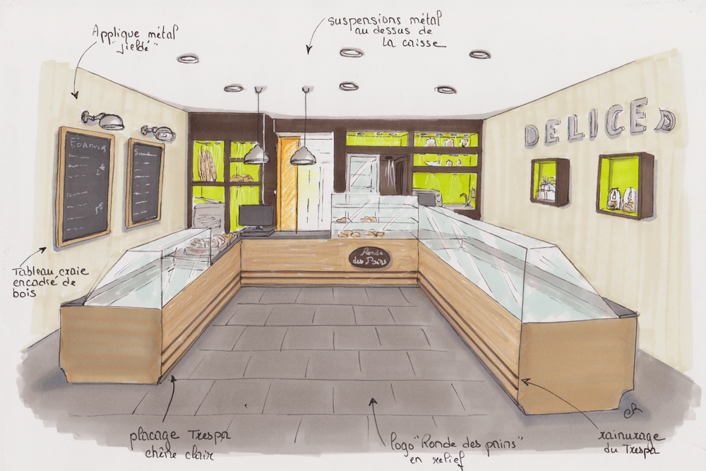 Dessin Boulangerie boulangerie-dessin   planches ambiance   pinterest   showroom