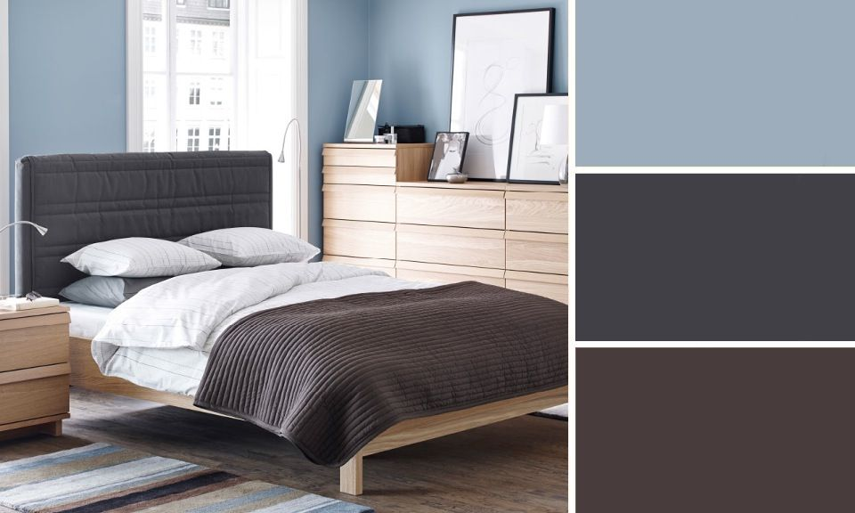 quelles couleurs se marient avec le bleu chambres bleu. Black Bedroom Furniture Sets. Home Design Ideas