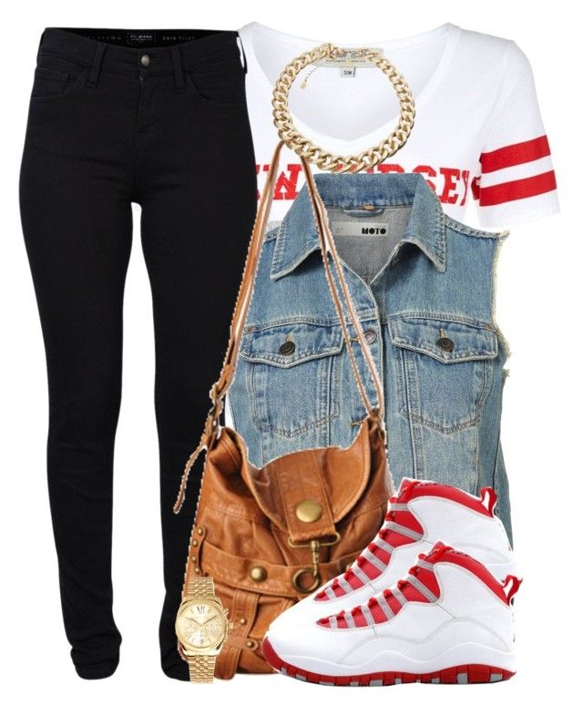 """Untitled #341"" by livelifefreelyy ❤ liked on Polyvore featuring Parisian, French Connection, Forever 21, Retrò and Michael Kors"