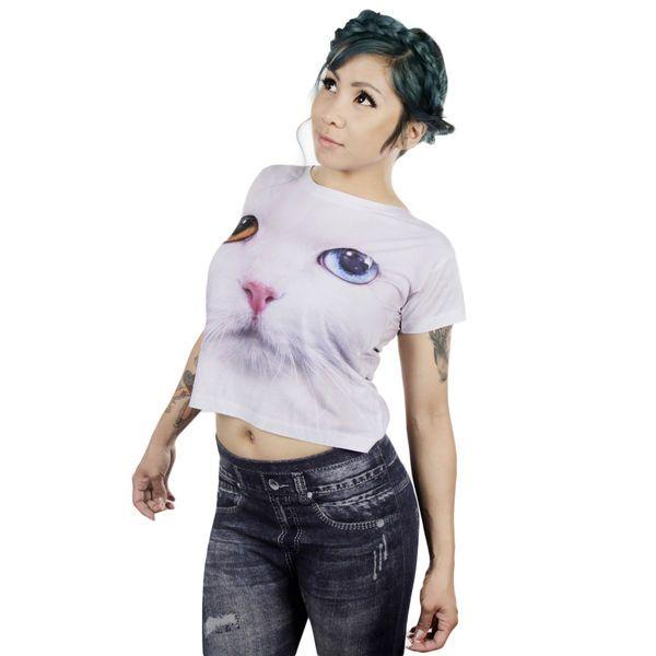 Valkoinen Kissa T-paita