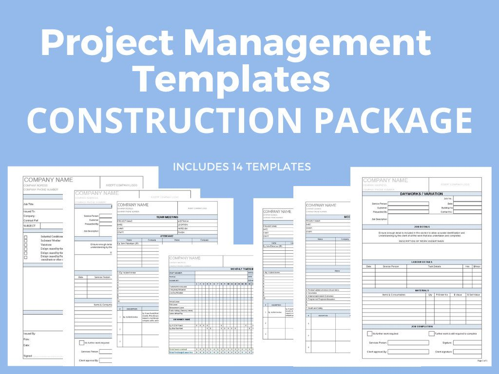 Project Management Construction Package