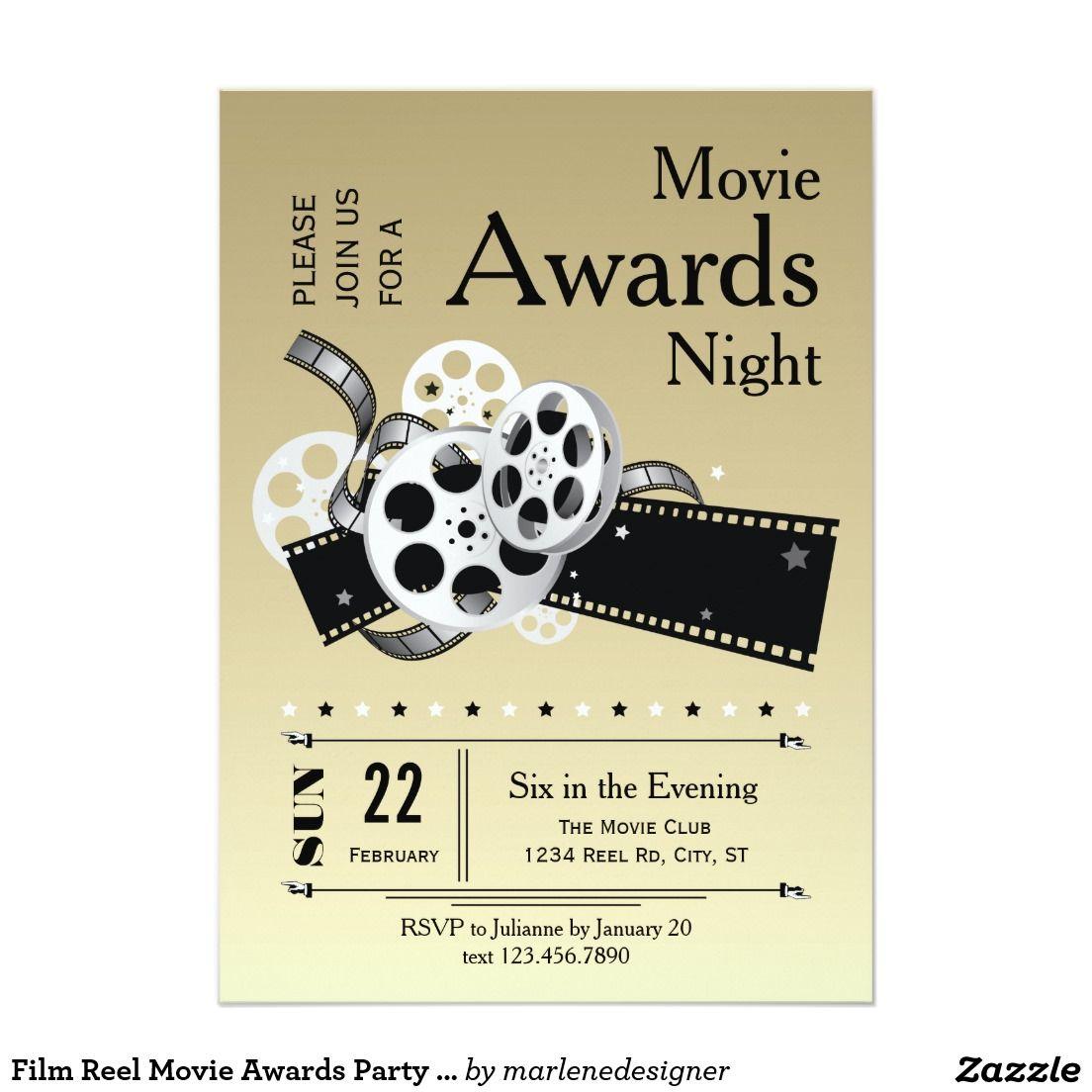 Film-Spulen-Film spricht Party Einladung zu   Pinterest   Party ...