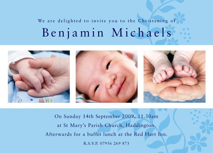 baptismal invitation card – Sample of Invitation Card for Christening
