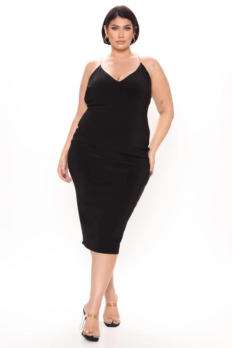 Back In Chains Midi Dress Black In 2021 Black Midi Dress Fashion Midi Dress [ 1140 x 760 Pixel ]