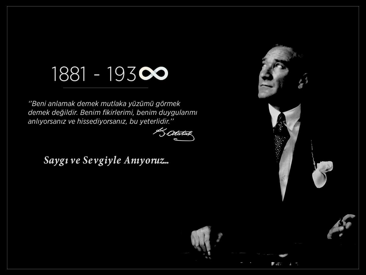 Gazi Mustafa Kemal Atatürk'ü vefatının 78. yılında saygı