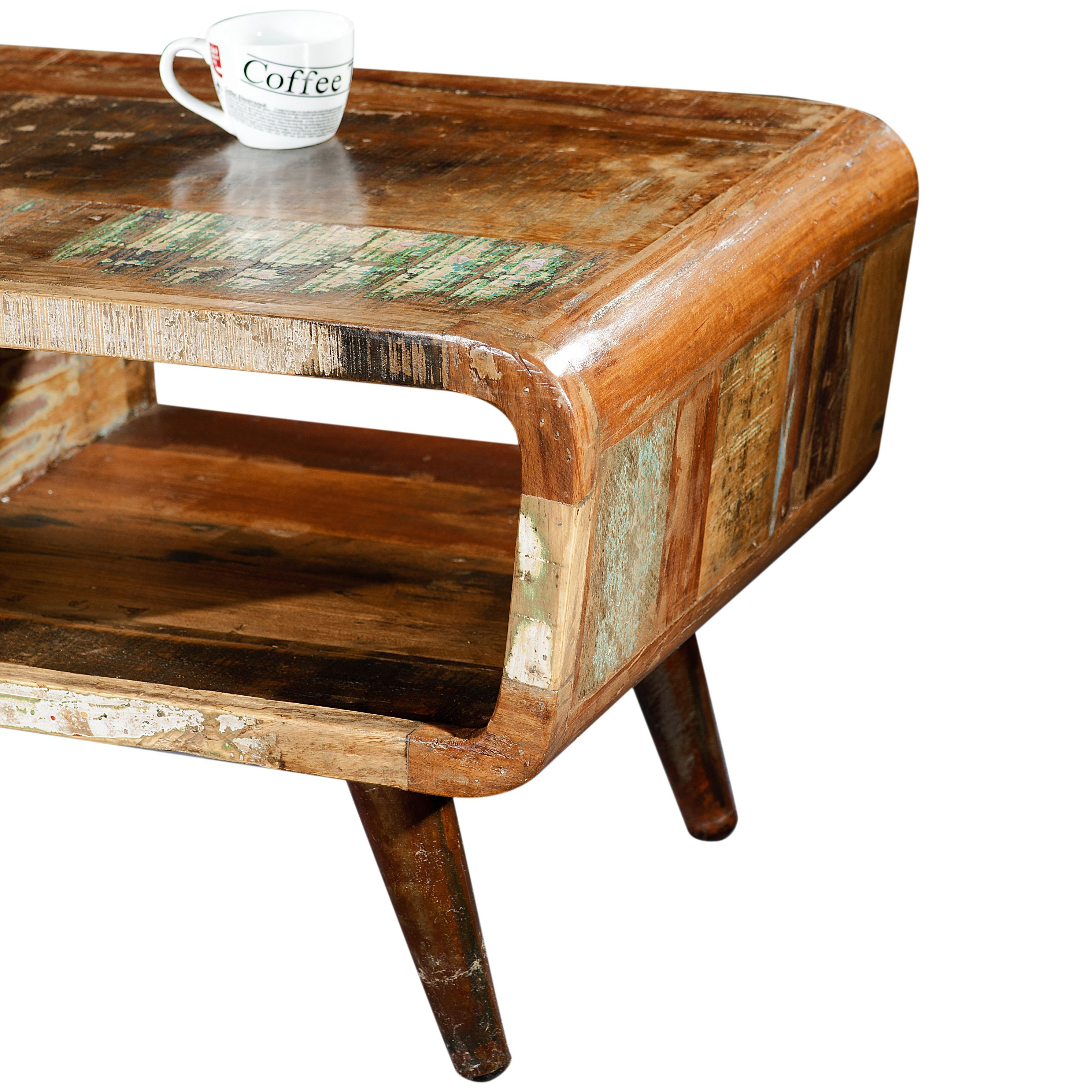 Porter route reclaimed midcentury modern coffee table with
