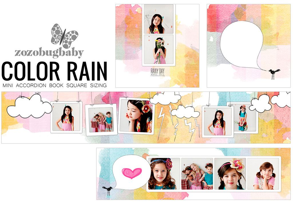 Mini Book Templates- COLOR RAIN - ACCORDION FOR WHCC | Photo
