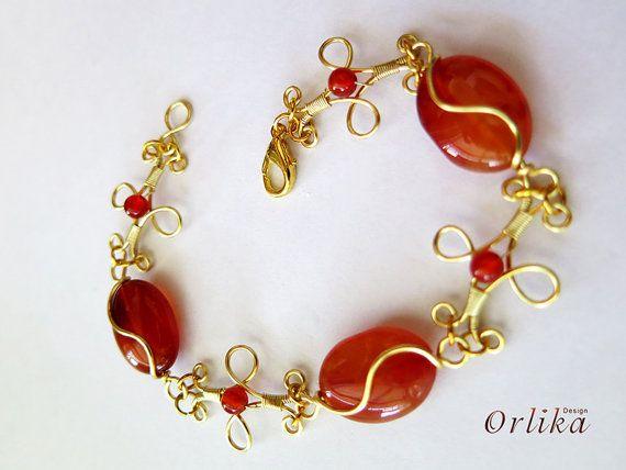 Bracelet, wire wrap bracelet | Abweichend, Wenden und Wickeln
