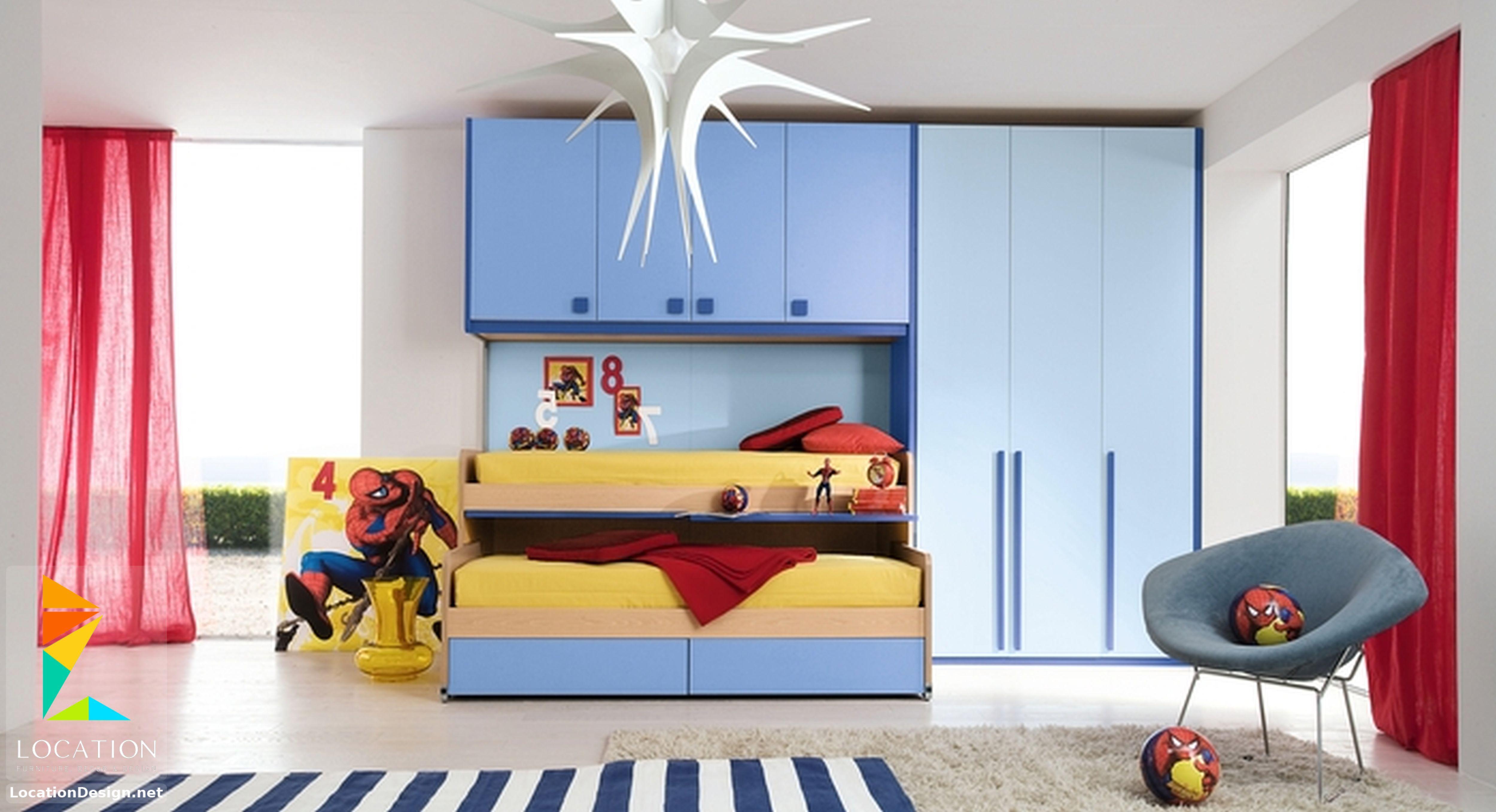 غرف نوم اولاد شباب أحدث موديلات غرف شبابي مودرن لوكشين ديزين نت Cool Bedrooms For Boys Boys Bedroom Decor Boy Bedroom Design