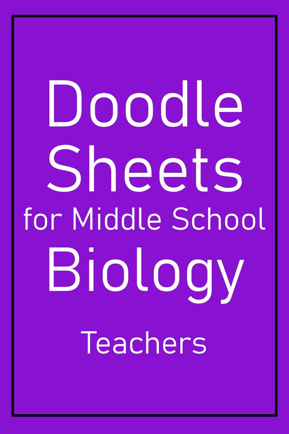 Animal Cell Structure Doodle Sheet Middle School Biology ...