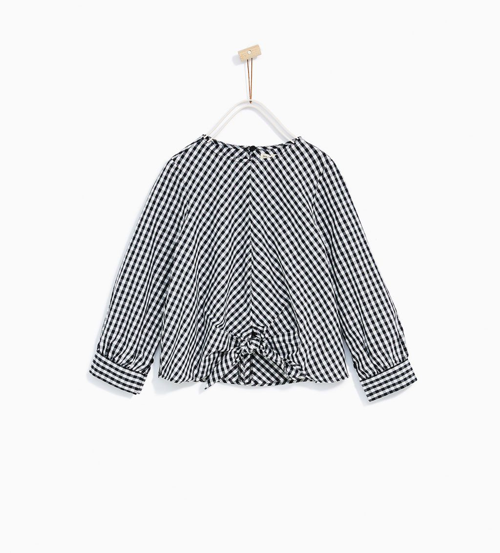 43597b789a GINGHAM KNOT BLOUSE Vichy, Zara Kids, Kids And Parenting, Dressmaking, Baby  Dress