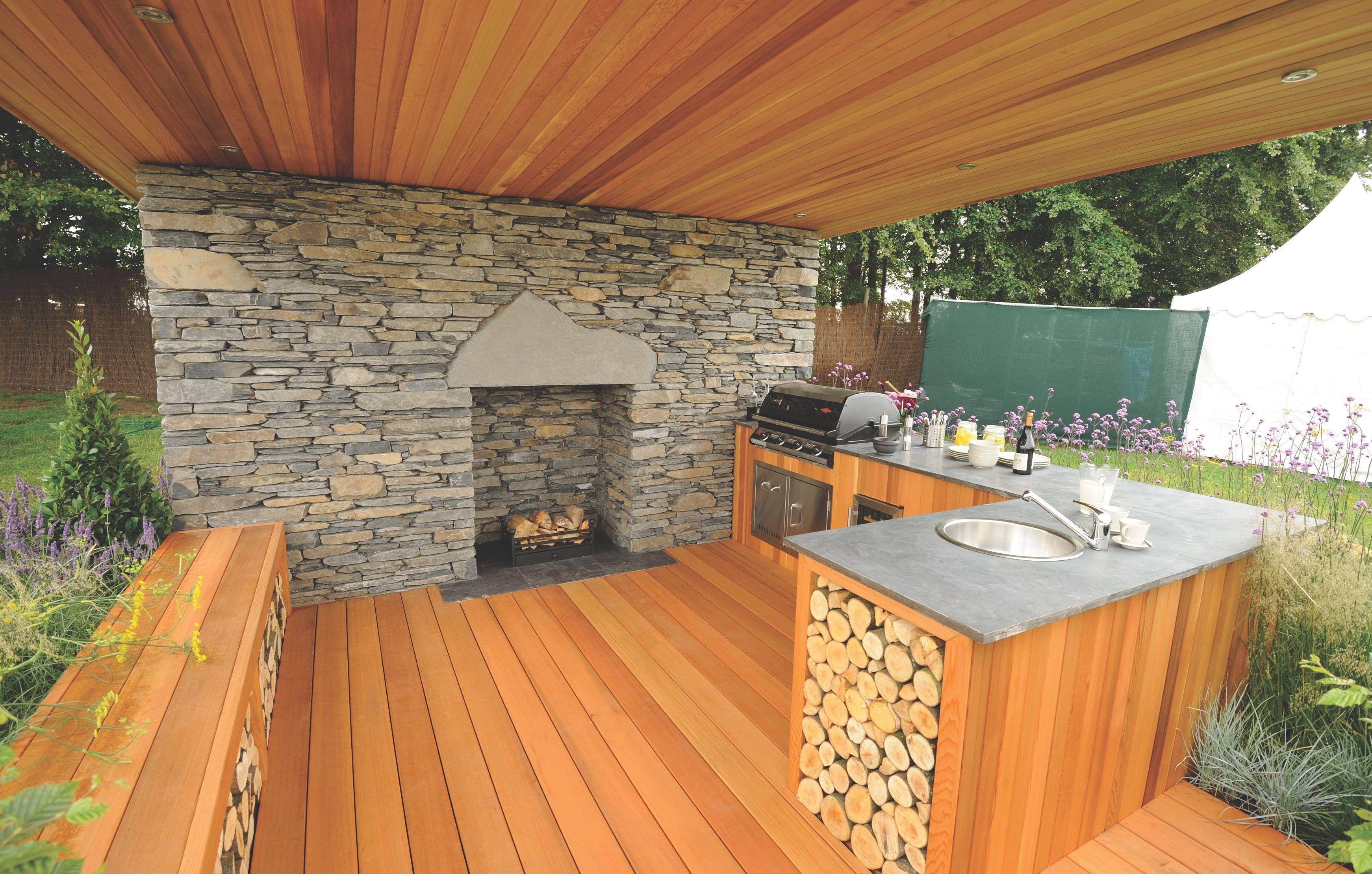 Western Red Cedar Outdoor Projects Outdoor Kitchen Design Outdoor Kitchen Backyard