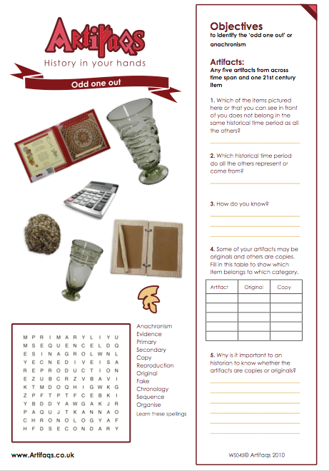 Free Worksheet - Odd one out (Roman Empire)   Objectives To identify the 'odd one out' or anachronism