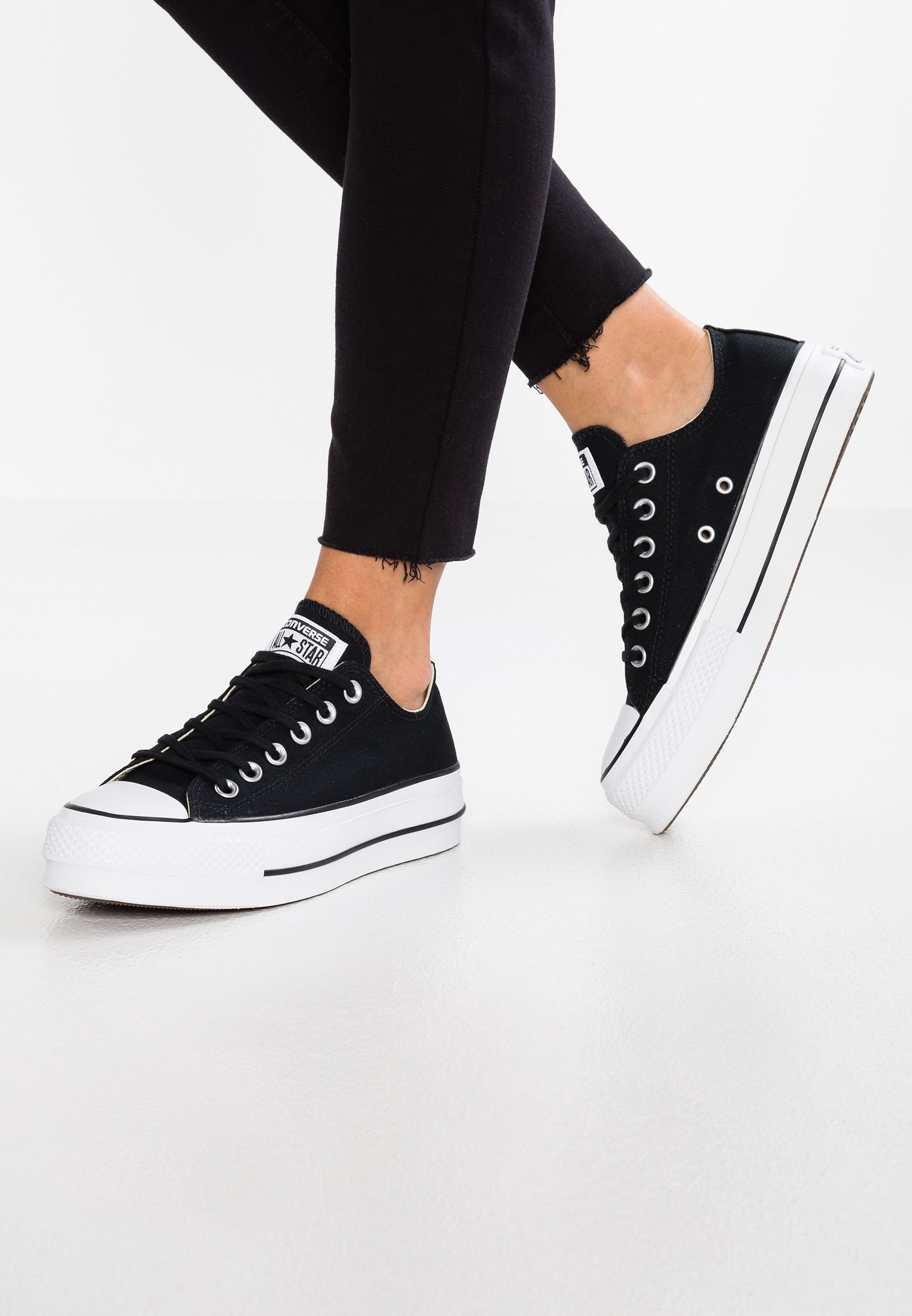 CHUCK TAYLOR ALL STAR LIFT - Baskets basses - black/garnet ...
