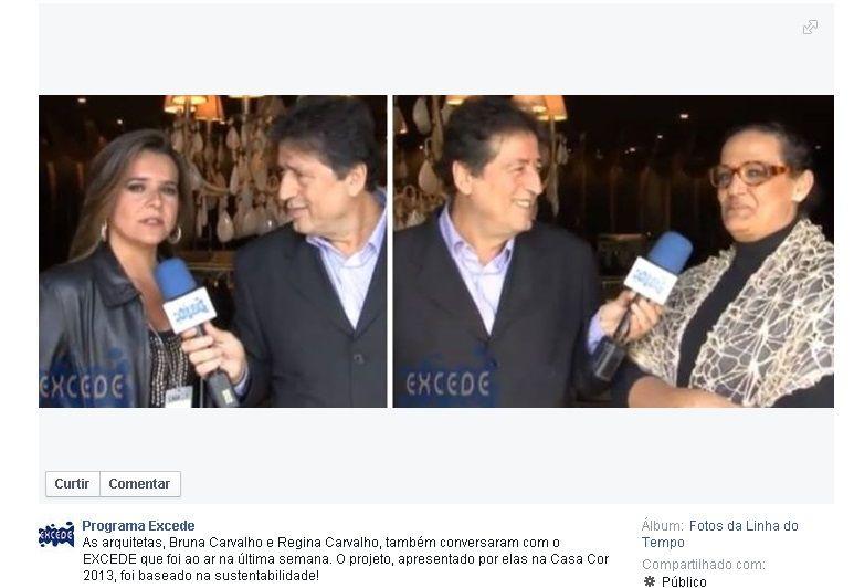"""ENTREVISTA NOSSA NO PROGRAMA EXCESDE DE SURREY , SOBRE NOSSA PARTICIPAÇÃO NA CASA COR SÃO PAULO 2013 - COM O NOSSO  AMBIENTE """"BOULANGERIE DONA DÊOLA""""-SÃO PAULO -SP-BRASIL"""