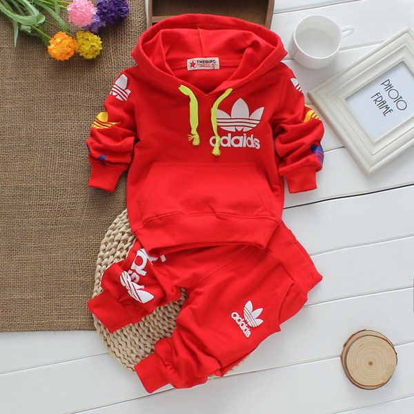 2Pcs Baby Suits Tops Pants Girls Clothes Boys Zipper Tracksuit Outfits Sets