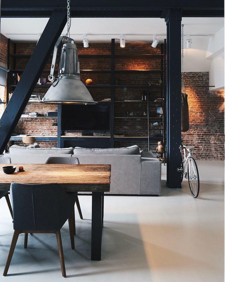 Get Inspired, visit wwwmyhouseidea #myhouseidea - interieur aus beton und aluminium urban wohnung