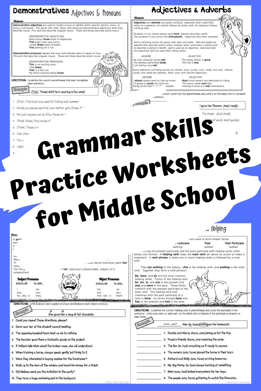 Grammar Practice Worksheets Grammar Worksheets Grammar Practice Grammar Skills [ 1500 x 1000 Pixel ]