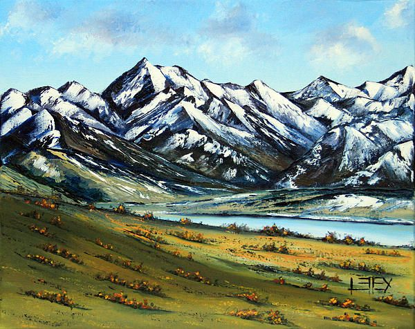 Southern Alps By Lisa Elley Knife Art Landscape Paintings Art Oil