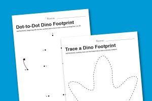 template dinosaur feet for numbers school pinterest