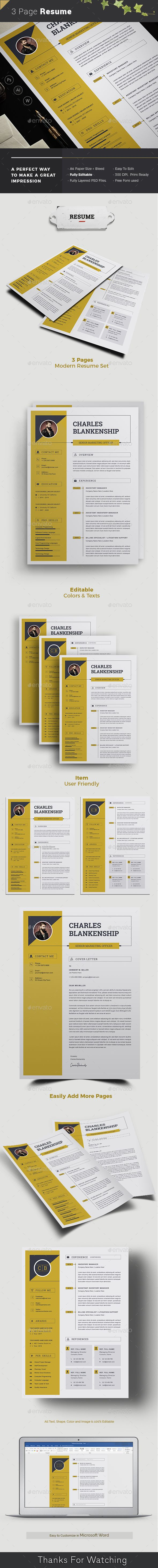 Resume Features Of Resume Template International A4 Paper Size