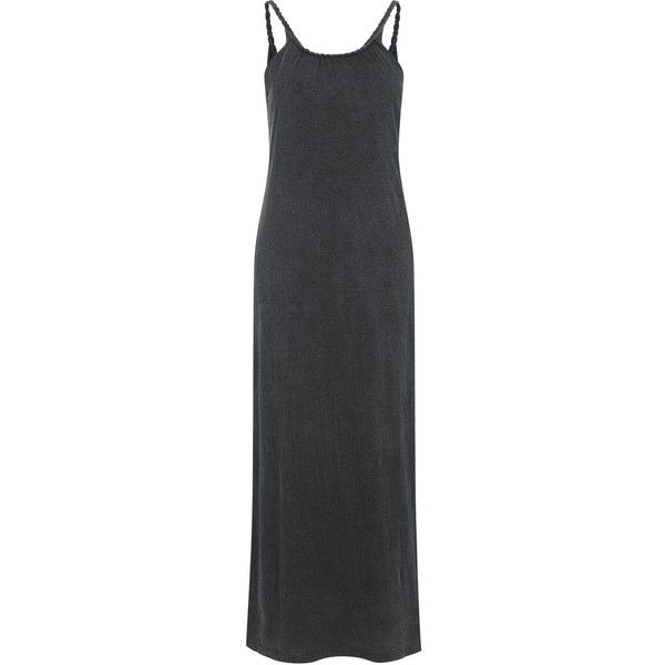 TopShop Plaited Strap Dress ($36) ❤ liked on Polyvore featuring dresses, washed grey, braided maxi dress, woven dress, strap dress, strap maxi dress and gray dress
