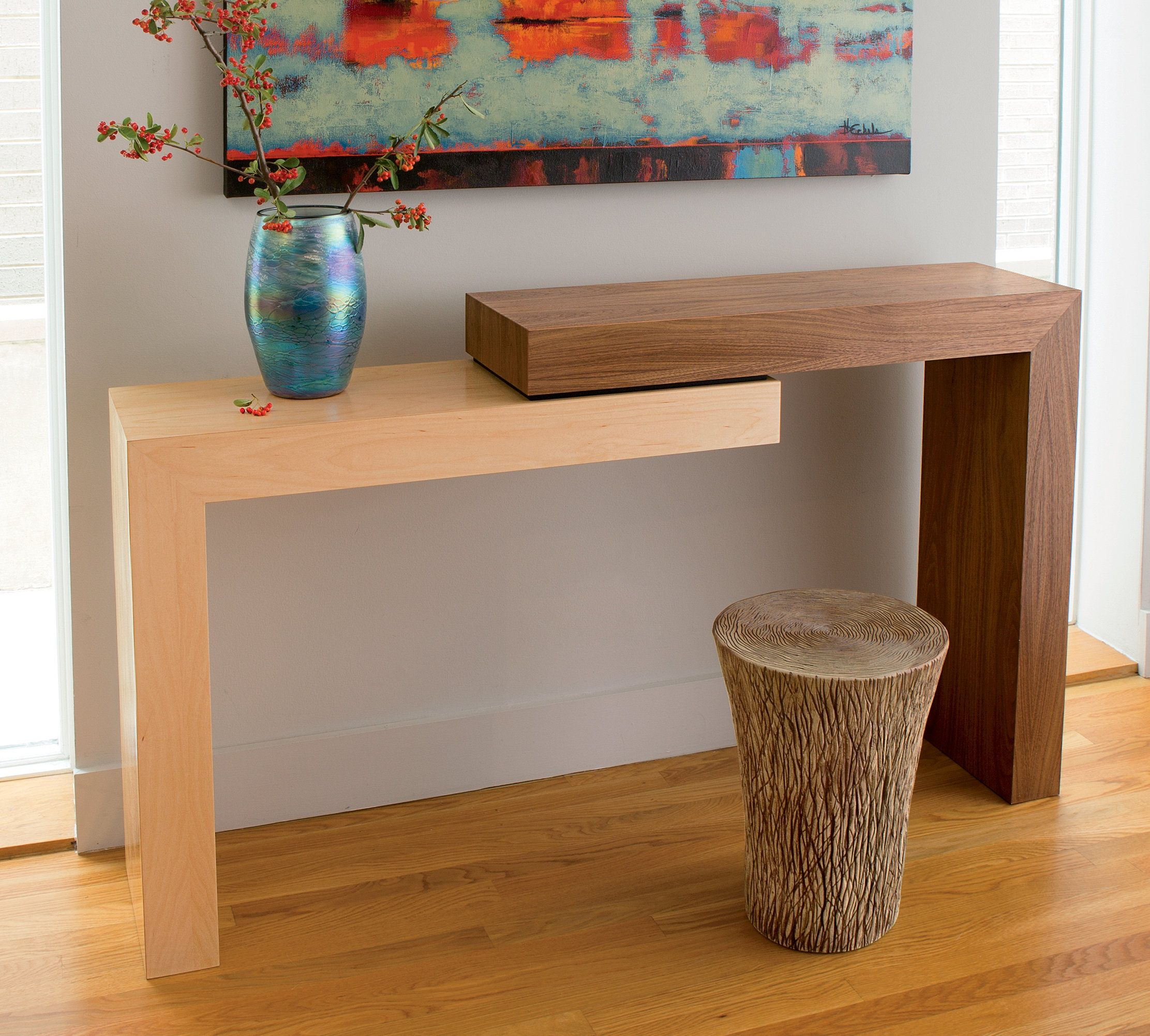 Stepped Console By Todd Leback Wood Console Table Artful Home Wood Console Diy Furniture Wood Console Table