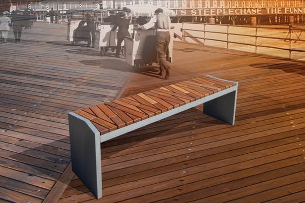 Boardwalk Bench | Modern bench design, Garden floor, Maple ...