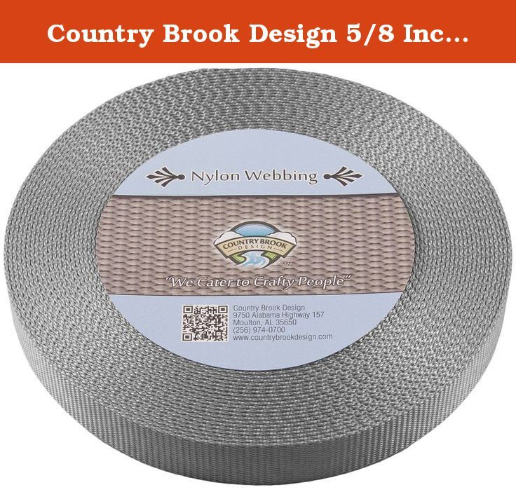 50 Yards Country Brook Design® 1 Inch Natural Heavy Cotton Webbing