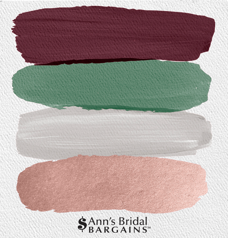 Wandfarbe Palette: The Perfect Palette: Burgundy, Fern, Gray And Rose Gold In