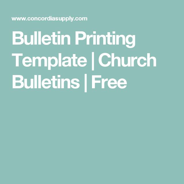 free church bulletin templates