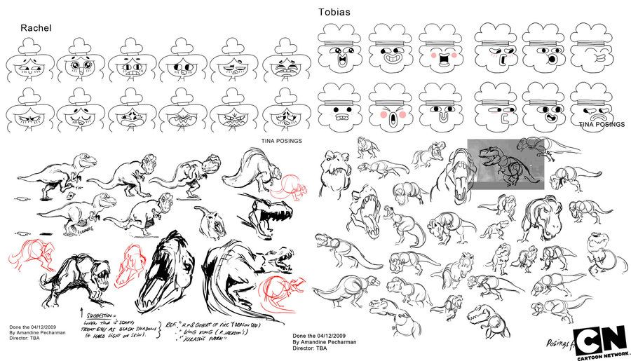 Rachel Tobias And Tina Rex Character Sheets By Waniramirez The Amazing World Of Gumball Gumball Concept Art