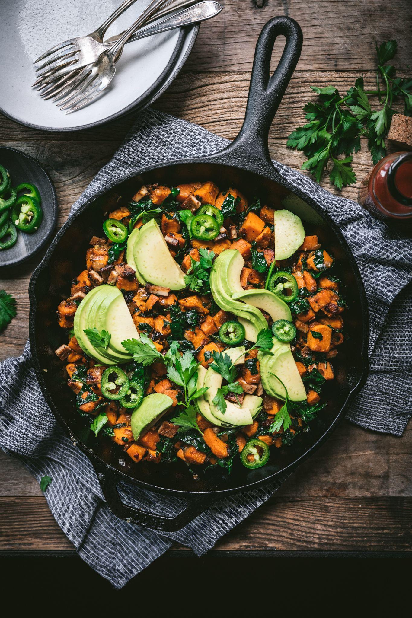 Vegan Sweet Potato Breakfast Hash Crowded Kitchen Recipe In 2020 Sweet Potato Breakfast Hash Breakfast Hash Vegan Brunch Recipes
