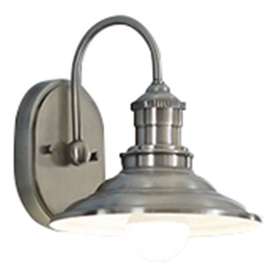 Shop allen roth hainsbrook 1 light antique pewter cone vanity light at lowes canada