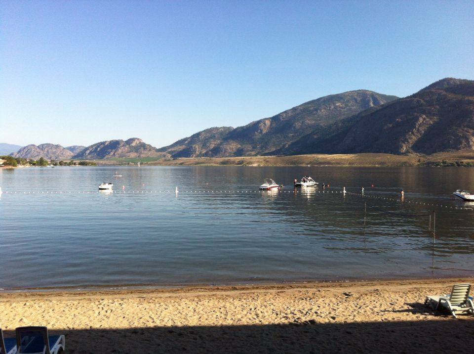 Beautiful View From The Coast Hotel In Osoyoos Bc