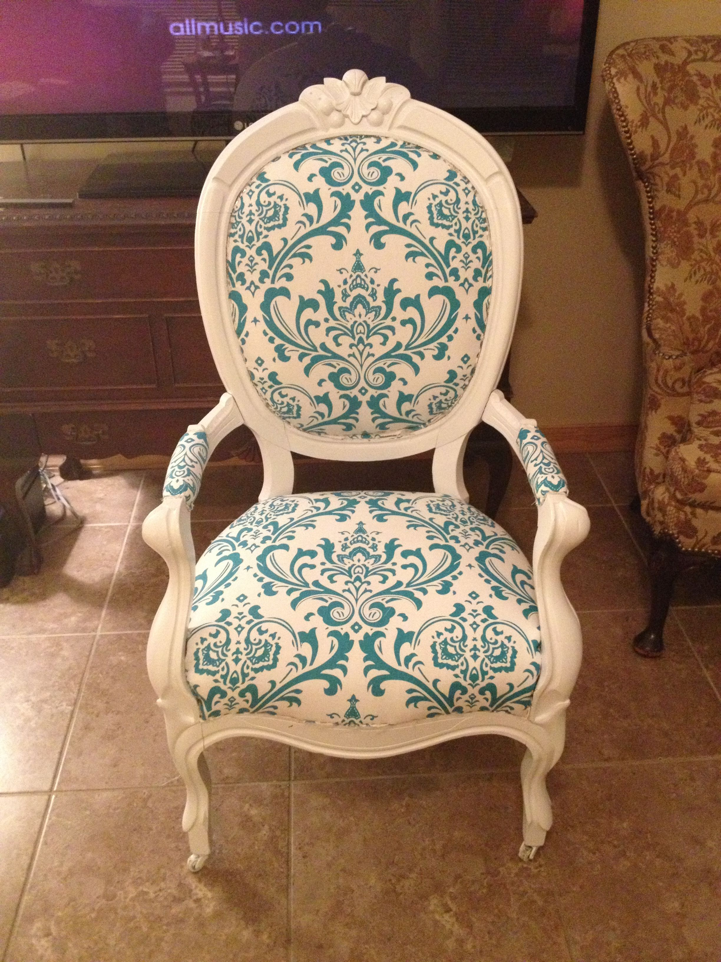 how to reupholster a dining chair with arms