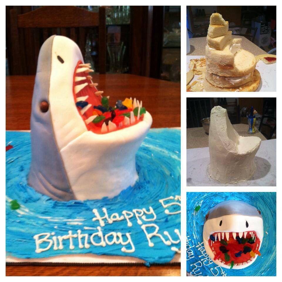 Shark Cake Tutorial | CAKES | Pinterest | Cake tutorial, Shark and ...