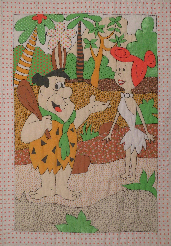Vintage Flintstones Crib Comforter With Images Crib Comforter