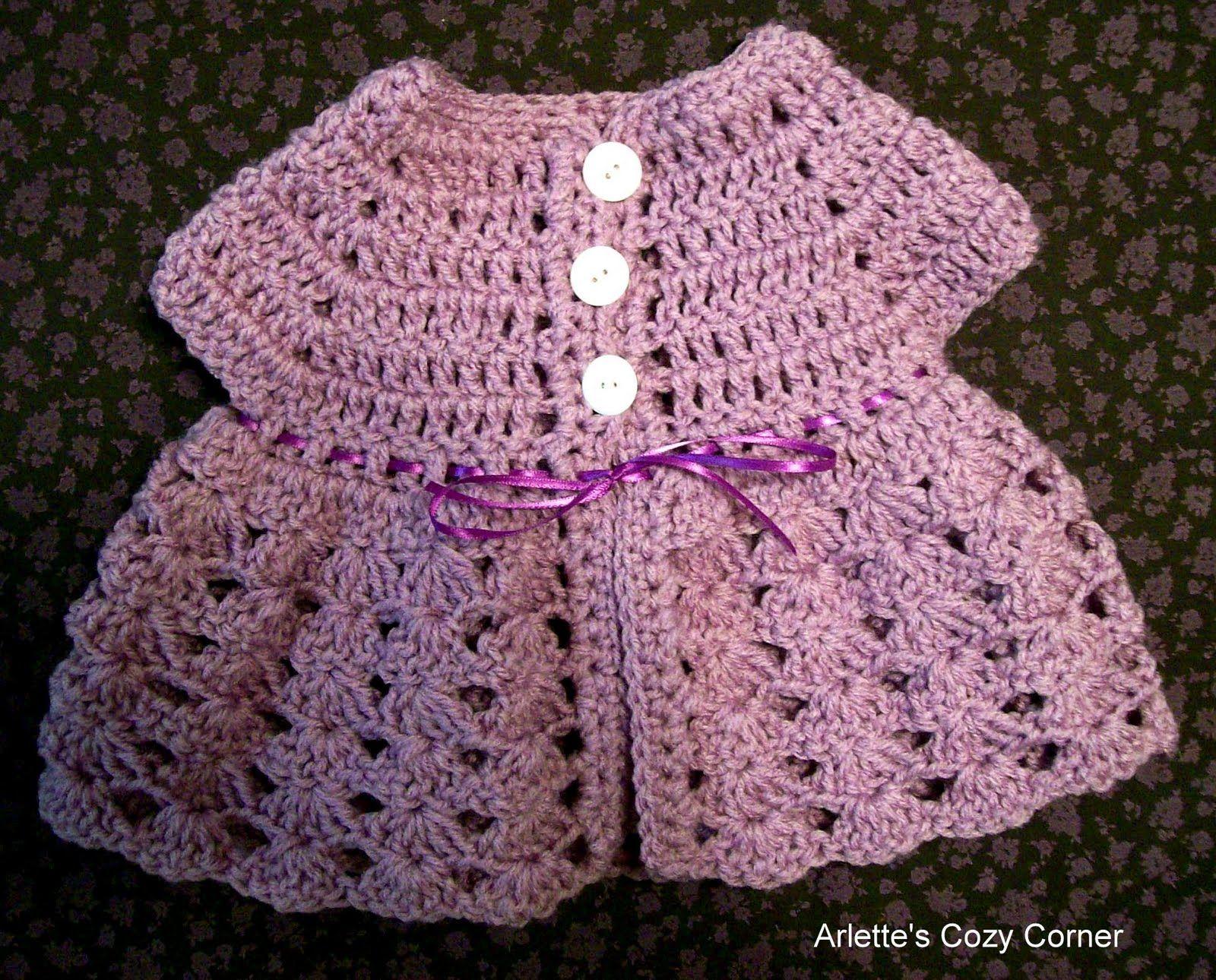 Free+Crochet+Baby+Sweater+Patterns | Video instructions: Crochet ...