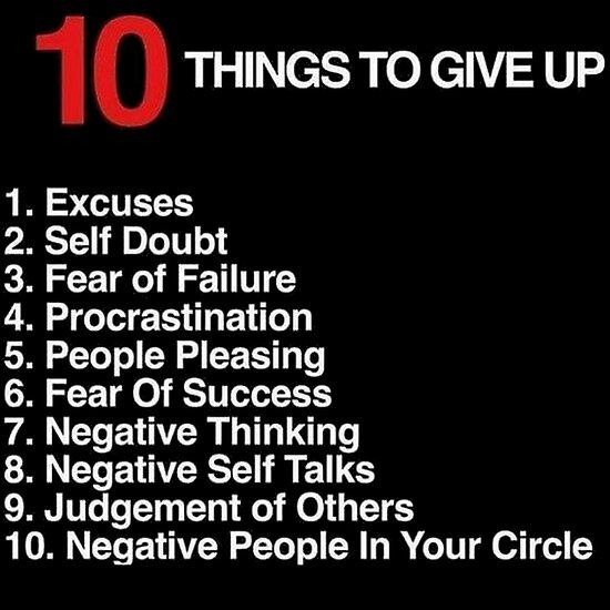 Best Entrepreneur Quotes - 10 Things To Give Up Po