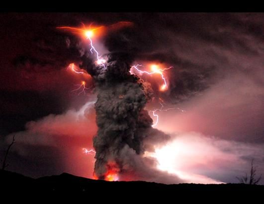 Puyehue volcano erupts in southern Chile.