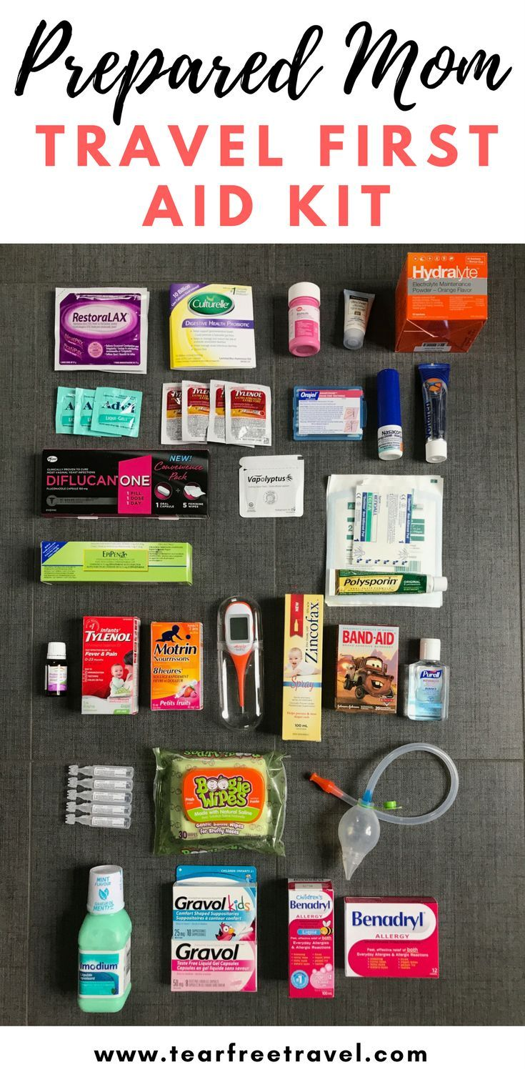 Mom Travel First Aid Kit - Tear Free Travel #firstaid