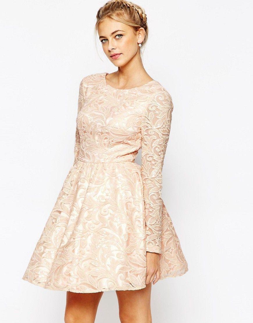 0d8e7e0e Mega fede Chi Chi London Allover Sequin Mesh Prom Skater Dress - Pink Chi  Chi London Occasion Kjoler til Damer til enhver anledning