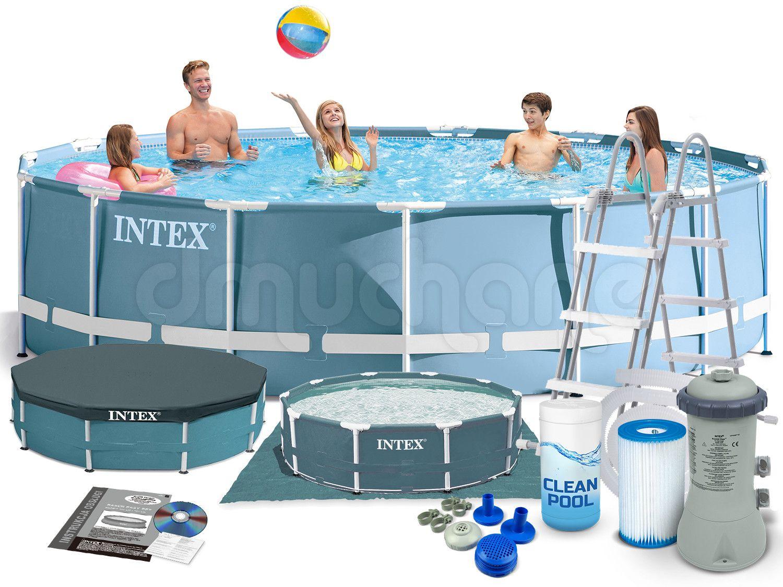Basen Ogrodowy Stelazowy Prism 457 X 107 Cm 7w1 Intex 28734 Swimming Pool Repair Cool Swimming Pools Swimming Pools