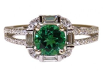 Castor Jewelry Brazilian emerald & diamond