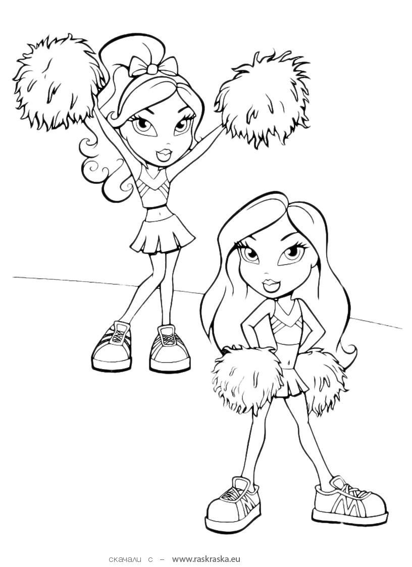 bratz coloring book coloring pages